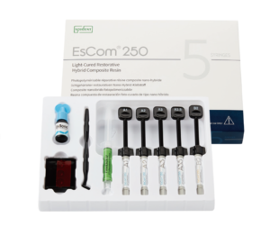 Набір 5 шприців, Наногібридний композитний матеріал з додатком цирконію Spident EsCom®250 Kit (Іс ком250),