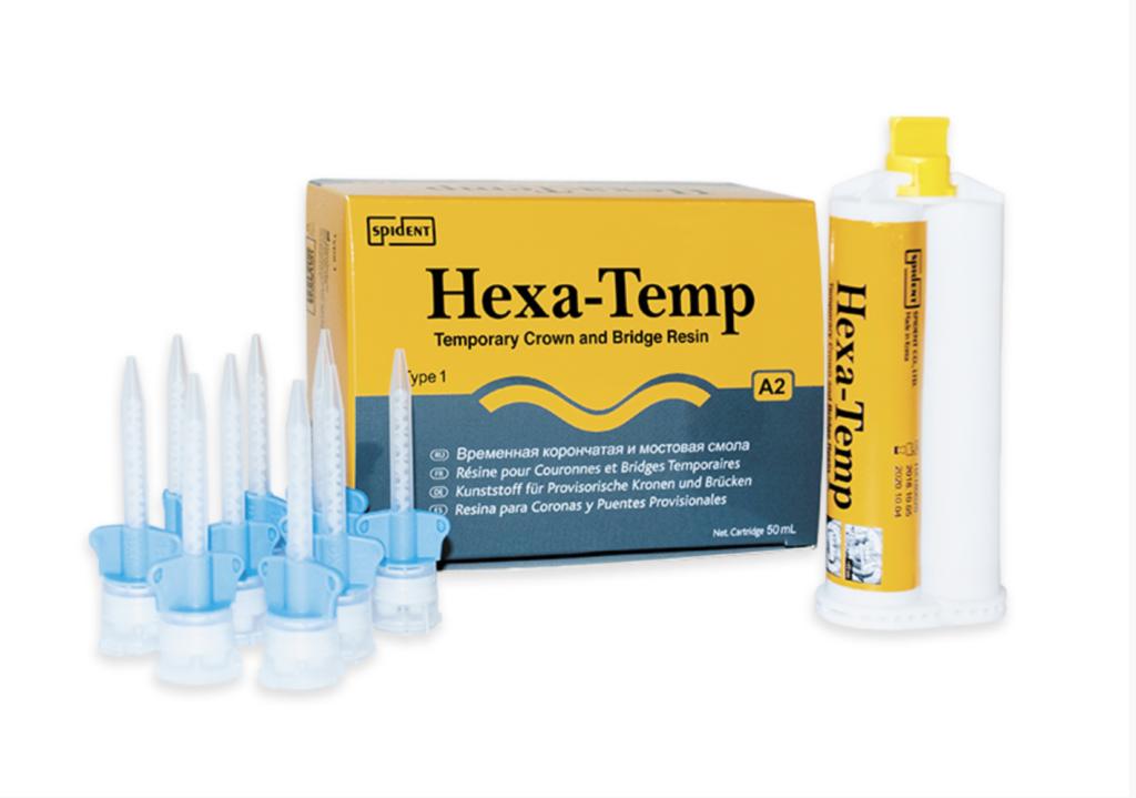 Матеріал для виготовлення тимчасових коронок Spident Hexa-Temp (Хекса темп), 50мл — фото №1