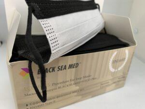 Маски процедурні BLACKSEAMED™ ECO Plus, Чорні